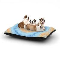 East Urban Home Iris Lehnhardt 'Summer Mandala' Circle Dog Pillow with Fleece Cozy Top Size: Large (50