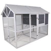 Precision Pet Garden Walk-In Chicken Coop with Nesting Box and Roosting Bar