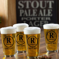 Jds Personalized Gifts Initial Personalized 16 oz. Pub Glass