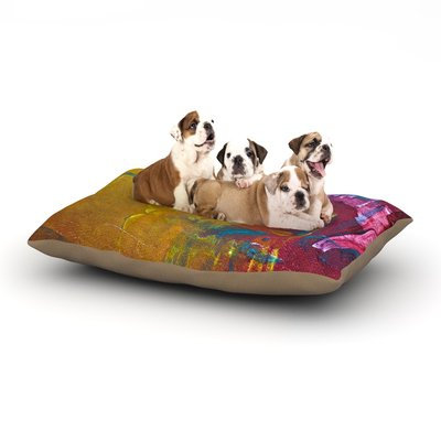 East Urban Home Malia Shields 'Cityscape Abstracts III' Dog Pillow with Fleece Cozy Top Size: Small (40