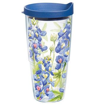 Tervis Tumbler Company Tervis Blue Bonnet on it Wrap Bottle with Blue Lid, 24-Ounce, Garden Party