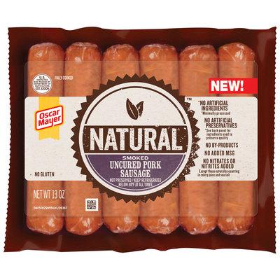 Oscar Mayer Natural Smoked Uncured Pork Sausage 6 ct Pack