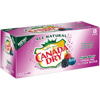 Canada Dry Triple Berry Sparkling Seltzer Water, 12 Fl Oz Cans, 8 Pack