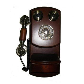 Ore International T0644 Classic Wall Telephone - Mahogany