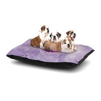 East Urban Home Nick Atkinson 'Painted Heart' Dog Pillow with Fleece Cozy Top Size: Large (50