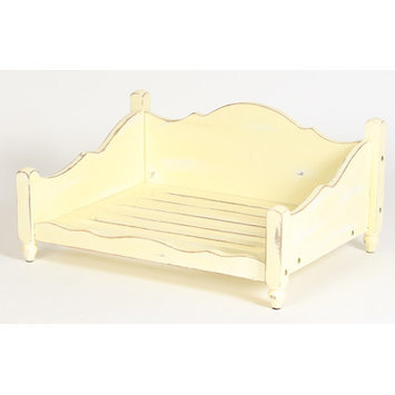 Dogstuffdepot Shabby Elegance Solid Wood Dog Bed Size: Small (27.75