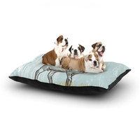 East Urban Home Sam Posnick 'Elk Scene' Dog Pillow with Fleece Cozy Top Size: Large (50