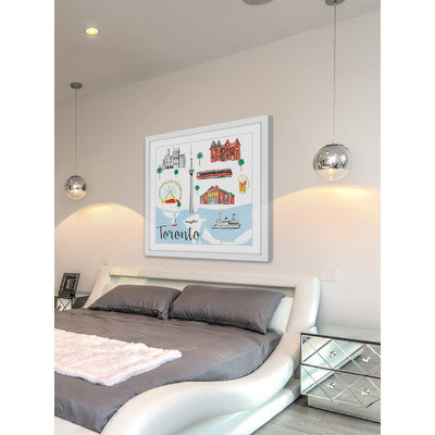 Marmont Hill Inc Marmont Hill - 'Toronto' by Molly Rosner Framed Painting Print