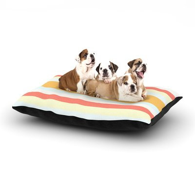 East Urban Home Nika Martinez 'Sand Stripes' Dog Pillow with Fleece Cozy Top Size: Large (50