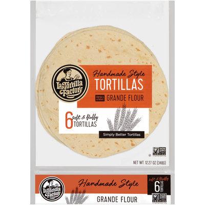 La Tortilla Factory™ Grande Flour Handmade Style Tortillas 6 ct Bag