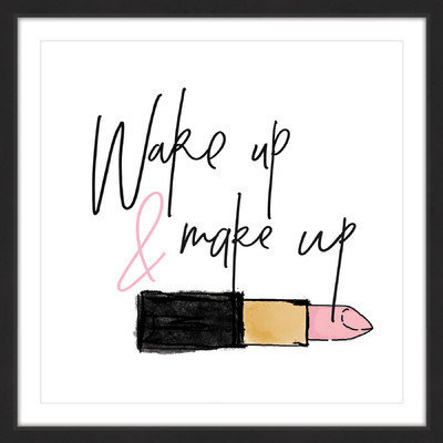 Marmont Hill Inc Marmont Hill - 'Wake Up Make Up' by Shayna Pitch Framed Painting Print