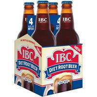 Diet IBC Root Beer, 12 Fl Oz Glass Bottles, 4 Pack