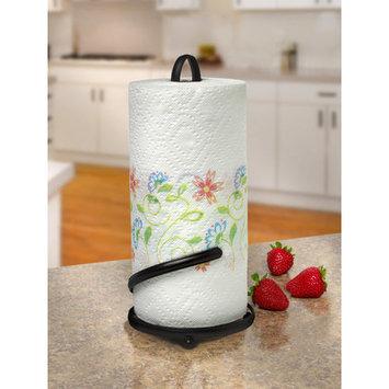 Rebrilliant Metal Paper Towel Holder Color: Black
