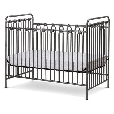 La Baby Napa Metal 3-in-1 Convertible Crib Finish: Pebble Gray