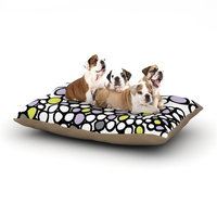 East Urban Home Emine Ortega 'Pebbles' Dog Pillow with Fleece Cozy Top Size: Large (50