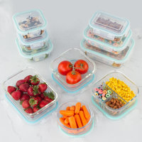 Rebrilliant Kaneko Glass 20 Container Food Storage Container Set