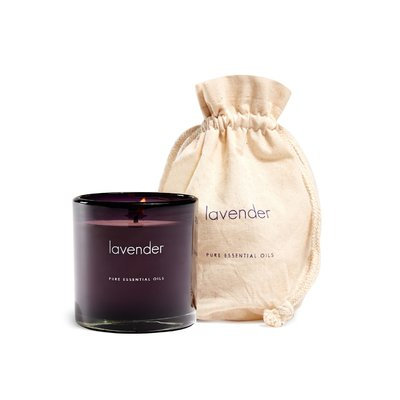 The Pure Candle Pure Simplicity in Recycled Glass Lavender Scented Candle