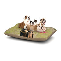 East Urban Home Robin Dickinson 'Sassy Pants' Dog Pillow with Fleece Cozy Top Size: Large (50