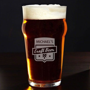 Home Wet Bar Craft Beer Personalized 20 oz. Glass Pint Glass