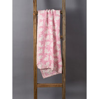 Living Textiles Baby Pink Bunny Jacquard Blanket
