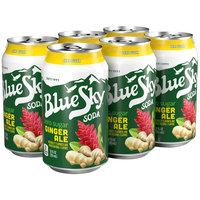 Blue Sky® Zero Sugar Ginger Ale Soda 6-12 fl. oz. Cans