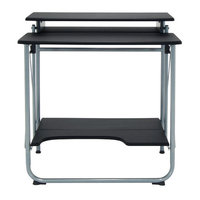 Studio Designs Stow Away Writing Desk Finish: Silver/Black
