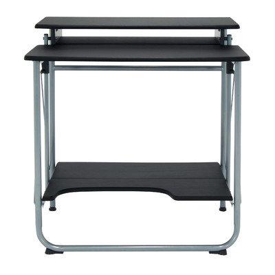 Studio Designs Stow Away Writing Desk Finish: Silver/Black