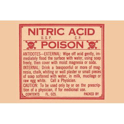 Buyenlarge 'Nitric Acid - Poison' Vintage Advertisement Size: 66