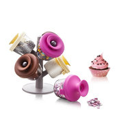 Rebrilliant Cake Decorating 6 Jar & Rack Set