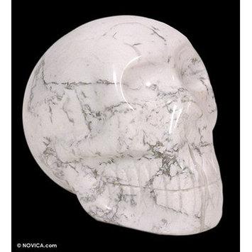 Novica Mystic Skull Howlite Bust