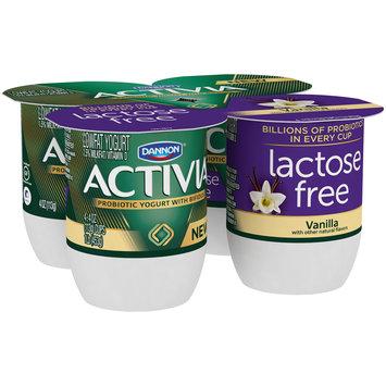 Dannon® Activia® Probiotic Lactose-Free Blended  Yogurt Vanilla 4oz 4pk
