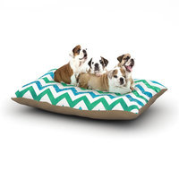 East Urban Home Beth Engel 'By the Sea' Dog Pillow with Fleece Cozy Top Size: Large (50