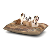 East Urban Home Susan Sanders 'Campfire Wood' Rustic Dog Pillow with Fleece Cozy Top Size: Small (40