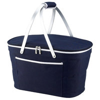 Beachcrest Home Collapsible Basket Cooler Color: Navy
