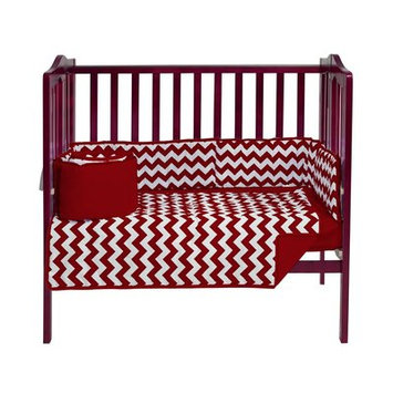 Harriet Bee Clint Portable 3 Piece Crib Bedding Set Color: Red