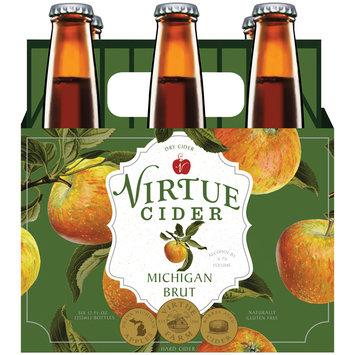 Virtue Michigan Brut Dry Hard Cider 6-12 fl. oz. Bottles