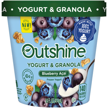 Outshine Yogurt & Granola Blueberry Acai Frozen Yogurt 14 fl. oz. Tub