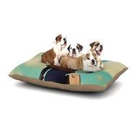 East Urban Home Natt 'Passenger 1A' Ostrich Dog Pillow with Fleece Cozy Top Size: Small (40