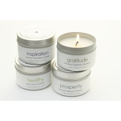 The Pure Candle 2 Piece Inspiration and Healthy Scented Jar Candle Set