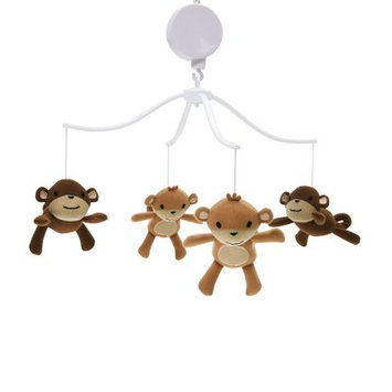 Bedtime Originals Mod Monkey Sherpa and Velour Mobile
