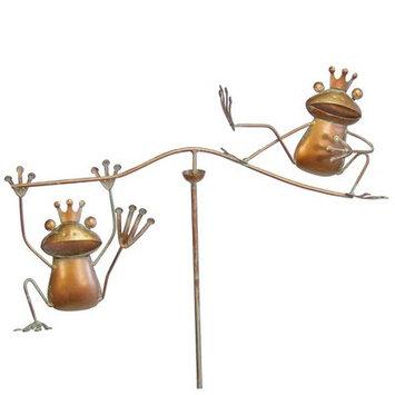 Echo Valley Small Frogs Wind Balancer Garden Stake