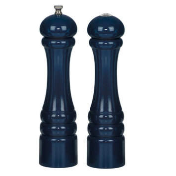 Chef Specialties Professional Series 10700 Autumn Hues Pepper Mill and Salt Shaker Set, Cobalt Blue