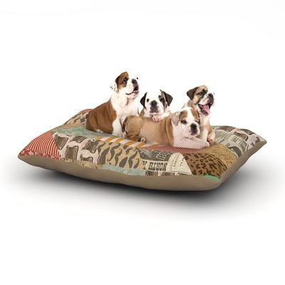 East Urban Home Heidi Jennings 'Hodge Podge' Texture Dog Pillow with Fleece Cozy Top Size: Large (50