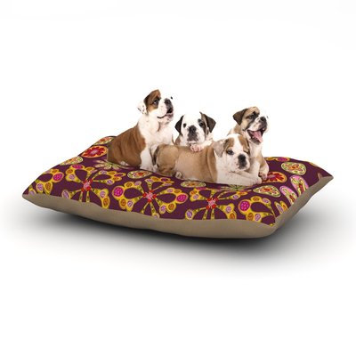 East Urban Home Jane Smith 'Indian Jewelry Floral' Dog Pillow with Fleece Cozy Top Size: Large (50