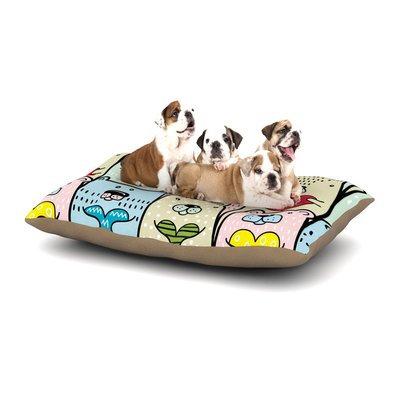 East Urban Home Snap Studio 'Bear Hugs' Animal Illustration Dog Pillow with Fleece Cozy Top Size: Small (40
