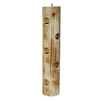 Wetsel Stovall White Cedar Suet Post Log Feeder 16In