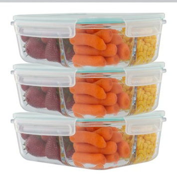 Rebrilliant Imkamp 3 Compartment Glass 51 Oz. Food Storage Container