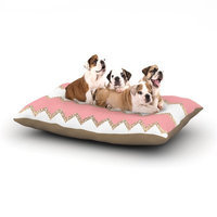 East Urban Home Monika Strigel 'Avalon' Chevron Dog Pillow with Fleece Cozy Top Size: Large (50