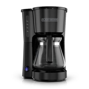 Black & Decker 5-Cup Stainless Steel Coffee Maker Color: Black