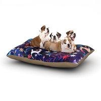 East Urban Home Nikki Strange 'Watercolour Folk' Dog Pillow with Fleece Cozy Top Size: Large (50